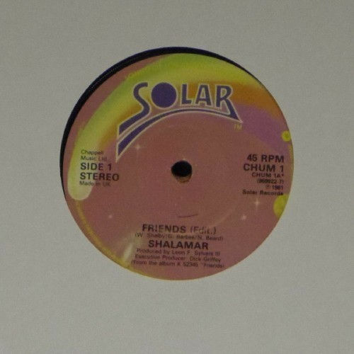 "Shalamar<br>Friends (Edit)<br>7"" single"