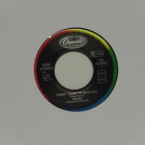 "Heart<br>I Didn't Want To Need You<br>7"" single"