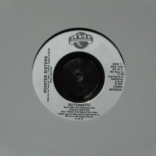 "Pointer Sisters<br>Automatic<br>7"" single"