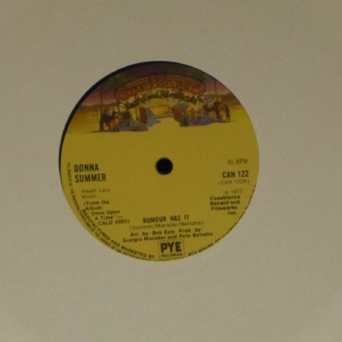 "Donna Summer<br>Rumour Has It<br>7"" single"