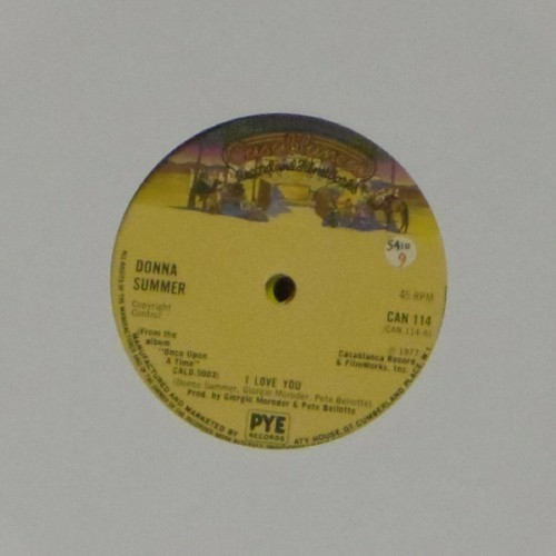 "Donna Summer<br>I Love You<br>7"" single"