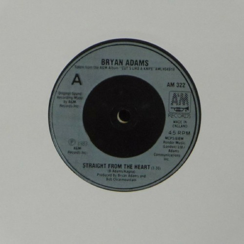 "Bryan Adams<br>Straight From The Heart<br>7"" single"
