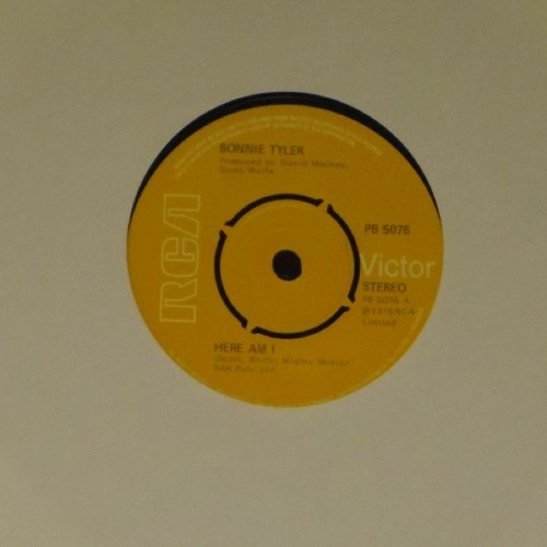 "Bonnie Tyler<br>Here Am I<br>7"" single"
