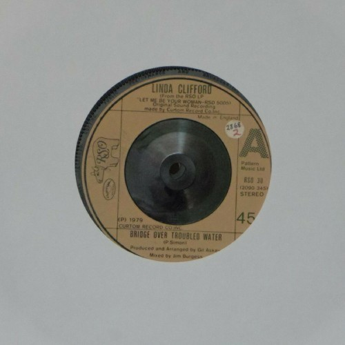 "Linda Clifford<br>Bridge Over Troubled Water<br>7"" single"