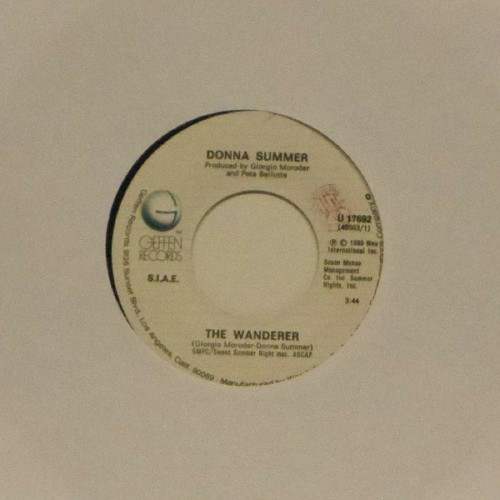 "Donna Summer<br>The Wanderer<br>7"" single"