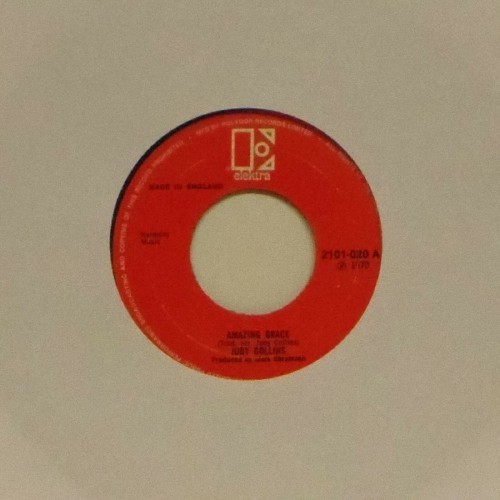 "Judy Collins<br>Amazing Grace<br>7"" single"