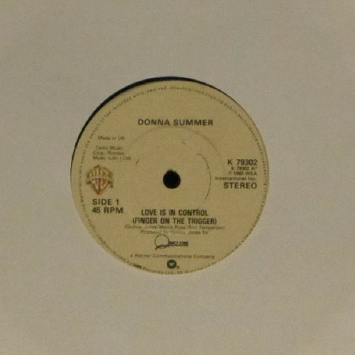 "Donna Summer<br>Love Is In Control<br>7"" single"