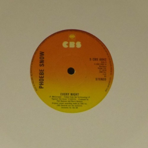 "Phoebe Snow<br>Every Night<br>7"" single"