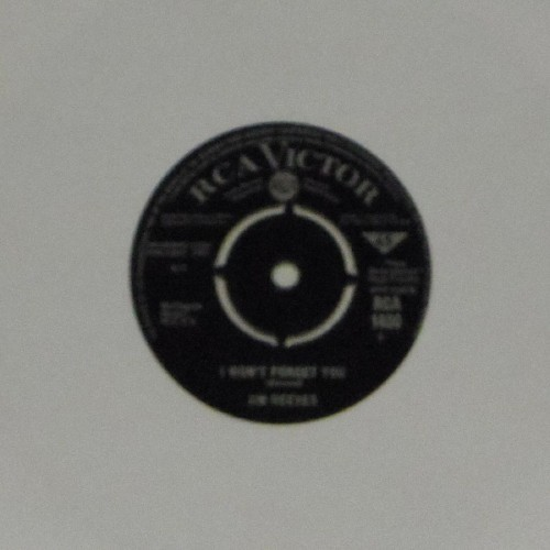 "Jim Reeves<br>I Won't Forget You<br>7"" single"