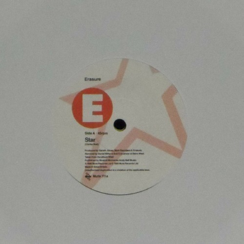 "Erasure<br>Star<br>7"" single"