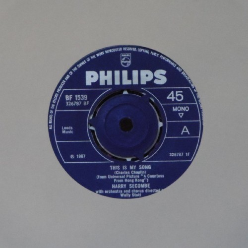 "Harry Secombe<br>This Is My Song<br>7"" single"