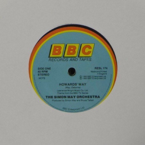 "The Simon May Orchestra<br>Howards Way<br>7"" single"