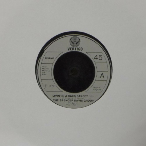 "The Spencer Davis Group<br>Livin In A Back Street<br>7"" single"