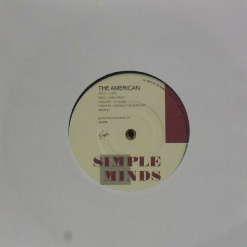 "Simple Minds<br>The American<br>7"" single"