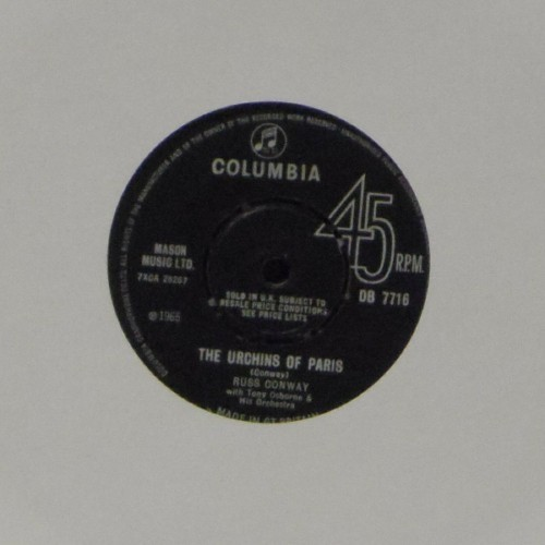 "Russ Conway<br>The Urchins Of Paris<br>7"" single"