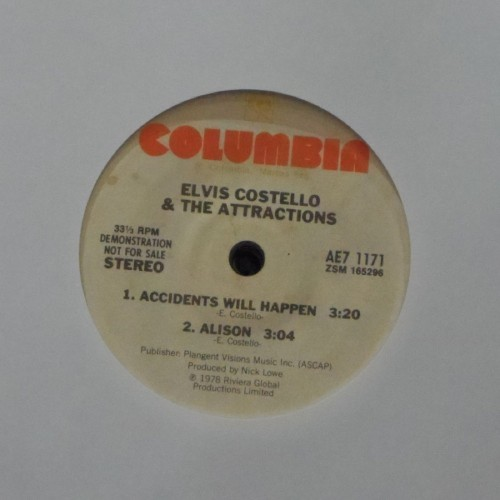"Elvis Costello & The Attractions<br>Accidents Will Happen<br>7"" single"