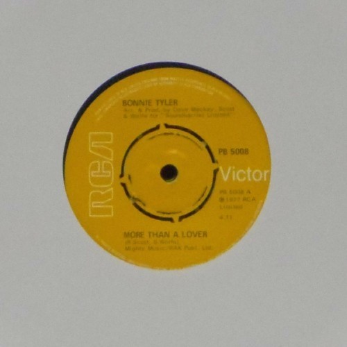 "Bonnie Tyler<br>More Than A Lover<br>7"" single"