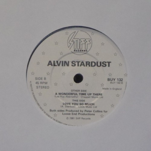 "Alvin Stardust<br>A Wonderful Time Up There<br>7"" single"