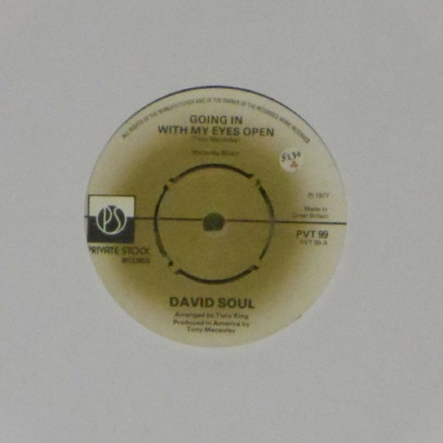 "David Soul<br>Going In With My Eyes Open<br>7"" single"