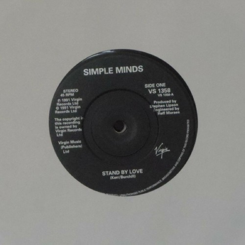 "Simple Minds<br>Stand By Love<br>7"" single"