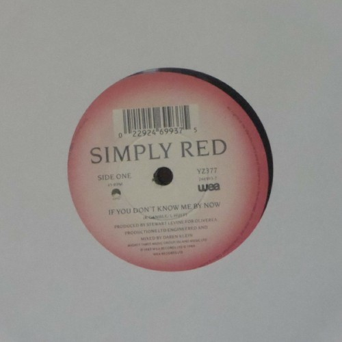 "Simply Red<br>If You Don't Know Me By Now<br>7"" single"