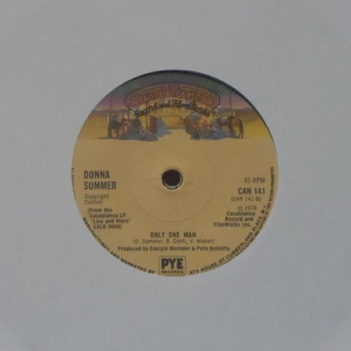 "Donna Summer<br>Only One Man<br>7"" single"
