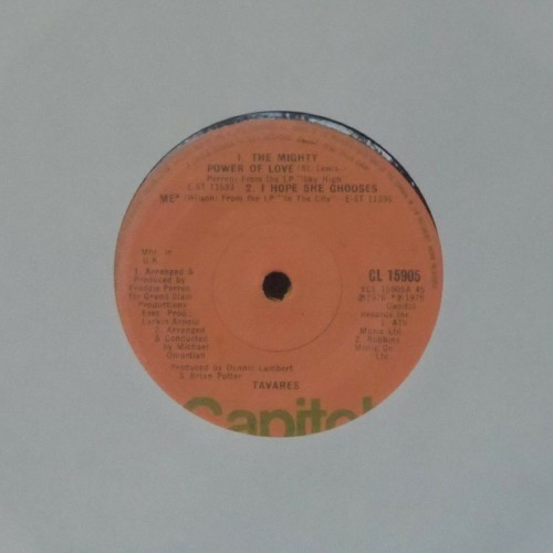 "Tavares<br>The Mighty Power Of Love<br>7"" single"