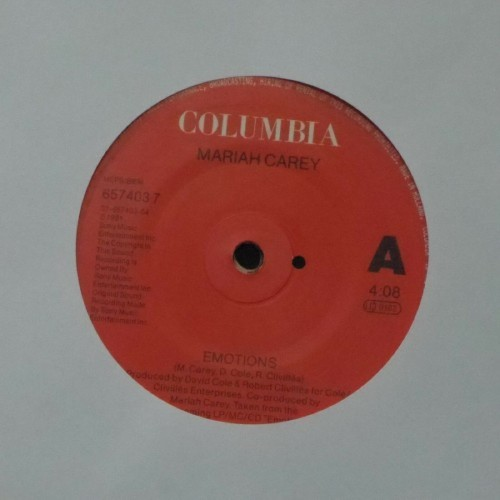 "Mariah Carey<br>Emotions<br>7"" single"