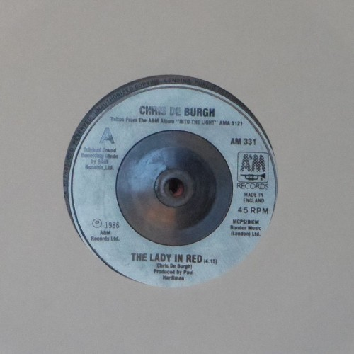 "Chris De Burgh<br>The Lady In Red<br>7"" single"