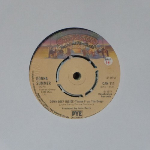 "Donna Summer<br>Down Deep Inside<br>7"" single"