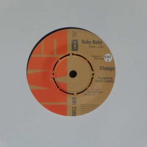 "Change<br>Ruby Baby<br>7"" single"