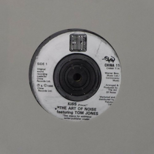 "The Art Of Noise<br>Kiss (With Tom Jones)<br>7"" single"