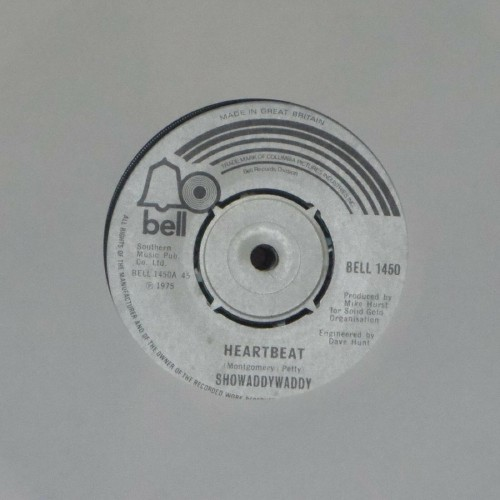 "Showaddywaddy<br>Heartbeat<br>7"" single"