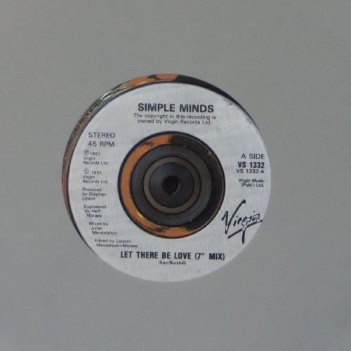 "Simple Minds<br>Let There Be Love (7"" Mix)<br>7"" single"