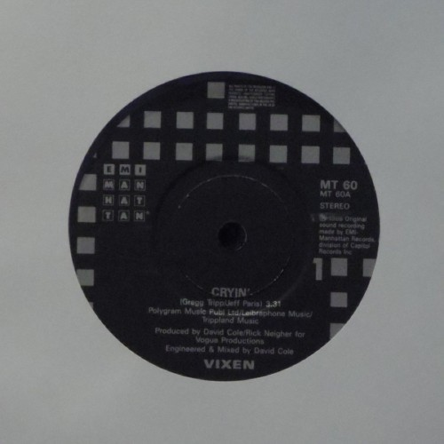"Vixen<br>Cryin<br>7"" single"
