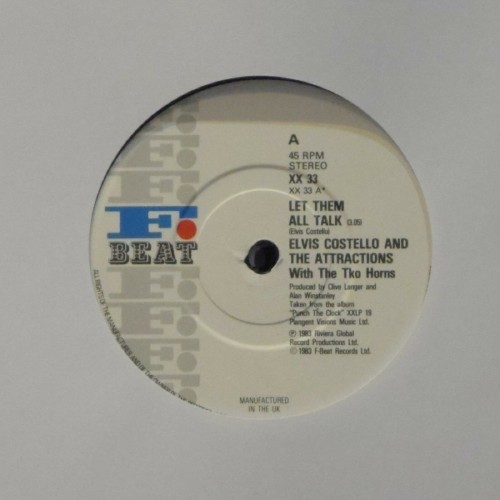 "Elvis Costello & The Attractions<br>Let Them All Talk<br>7"" single"