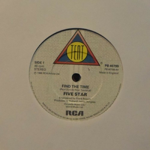 "Five Star<br>Find The Time<br>7"" single"