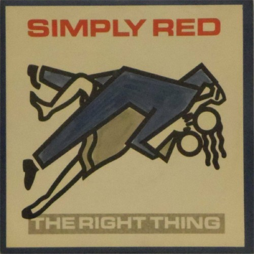 "Simply Red<br>The Right Thing<br>7"" single"